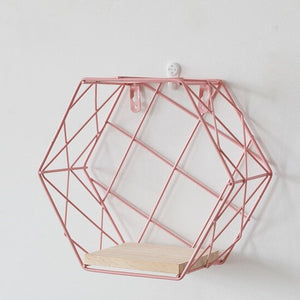 Metal Wooden Small Pink Shelf - Hansel & Gretel Home Decor