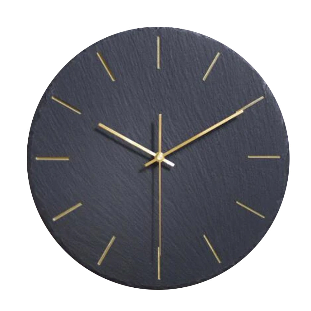 Modern Black Stone Wall Clock Camille Model - Hansel & Gretel Home Decor
