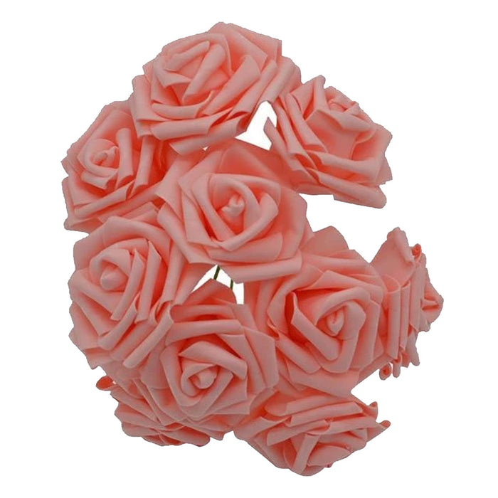 Peach Artificial Flowers Rose Bouquet