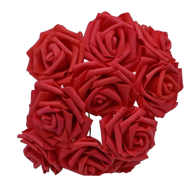 Red Artificial Flowers Rose Bouquet