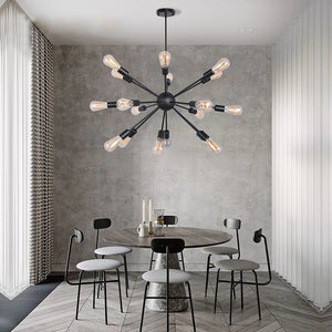 Modern Brass Black Sputnik Chandelier - Hansel & Gretel Home Decor