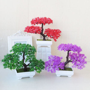 Violet Artificial Bonsai Plant