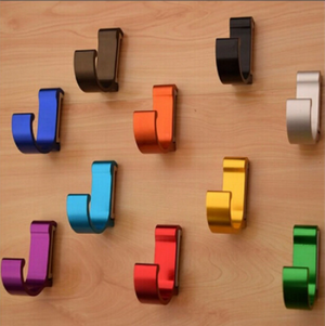 Colorful Solid Aluminum Adhesive Hooks - Hansel & Gretel Home Decor