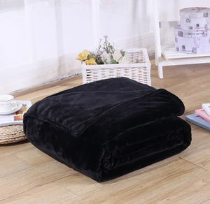 Polyester Black Blanket - Hansel & Gretel Home Decor