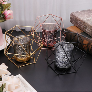 Cube Stainless Steel Wall Mounted Candleholder - Hansel & Gretel Home Decor