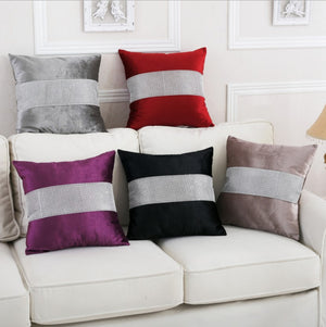 Diamond Fabric Red Decorative Pillow Case