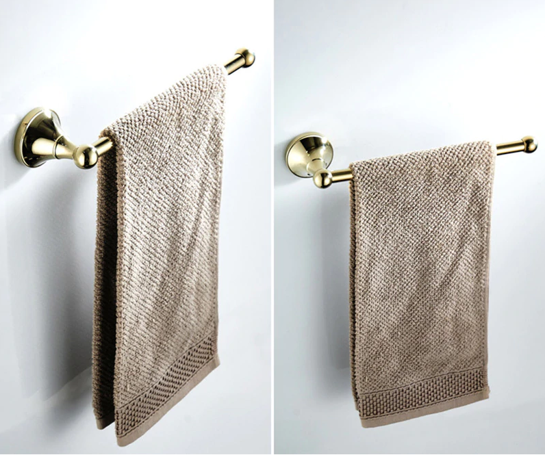 Gold Vintage Towel Hanger - Hansel & Gretel Home Decor