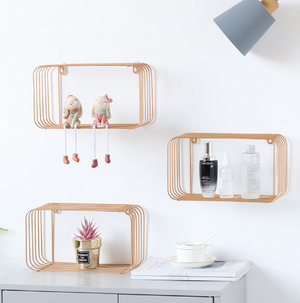 Metal Minimalist Pink Shelf - Hansel & Gretel Home Decor