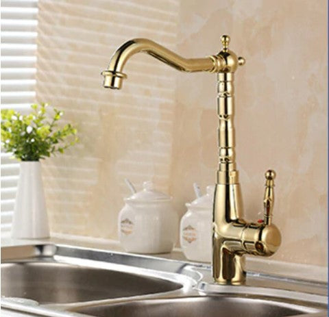 Solid Brass Bronze Kitchen Faucet Rotating and Water Purifying