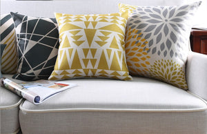 Fashionable Gold and White Decorative Pillow Case