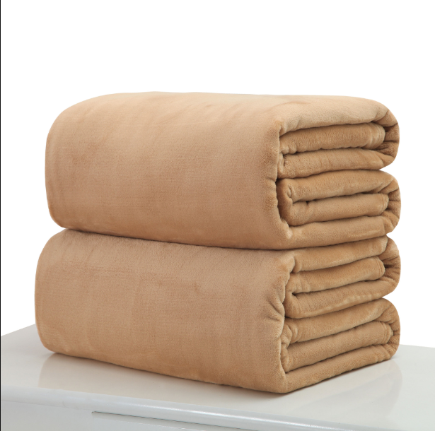 Cotton Polyester Light Brown Throw - Hansel & Gretel Home Decor