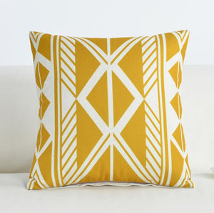 Fashionable Yellow and White Decorative Pillow Case