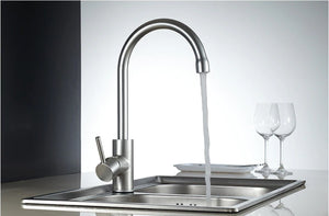 Aluminum Silver Kitchen Faucet Rotating