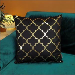 Elegant Black and Gold Decorative Pillow Covers