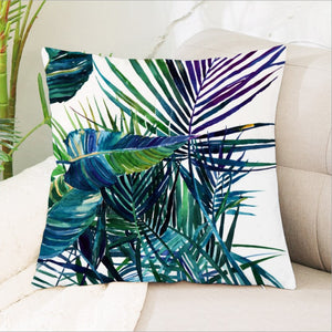 Modern Tropical Plants Decorative Pillow Case