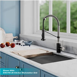 Black and Nickel Pull Down Kitchen  Faucet 360 Rotating