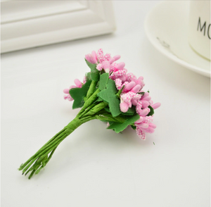 Pink Artificial Flowers Mulberry Bouquet - Hansel & Gretel Home Decor