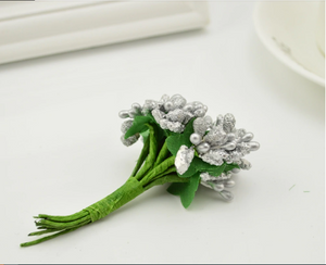 Gray Artificial Flowers Mulberry Bouquet - Hansel & Gretel Home Decor