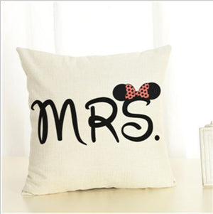 Modern Lovers Couple Decorative Pillow Case