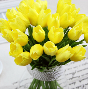 Yellow Artificial Flowers Tulip Bouquet - Hansel & Gretel Home Decor
