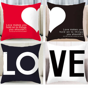 Modern Lovers Couple Decorative Pillow Case - Hansel & Gretel Home Decor