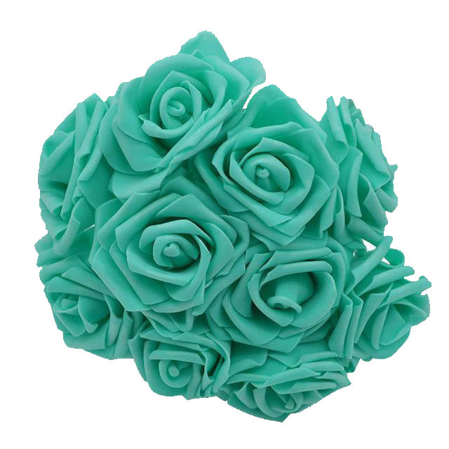 Teal Artificial Flowers Rose Bouquet