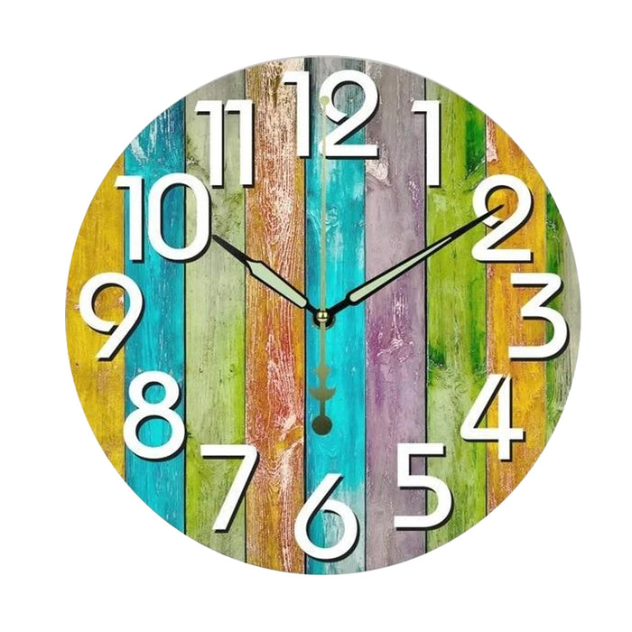 Modern Rainbow Wall Clock Kimberly Model