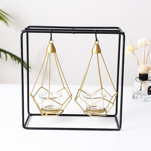 Geometric Iron Candle Holder - Hansel & Gretel Home Decor