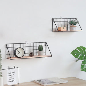 Metal Wooden Black Shelf - Hansel & Gretel Home Decor