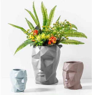 Decorative Face Ceramic Vase