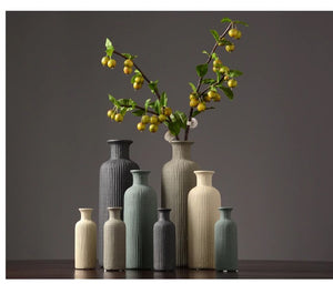 Classic Bottle Shaped Ceramic Vases