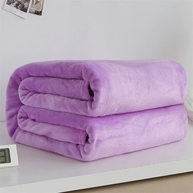 Polyester Light Purple Blanket - Hansel & Gretel Home Decor