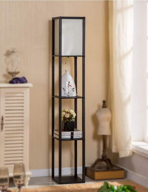 Asian Style Display Shelf Floor Lamp - Hansel & Gretel Home Decor