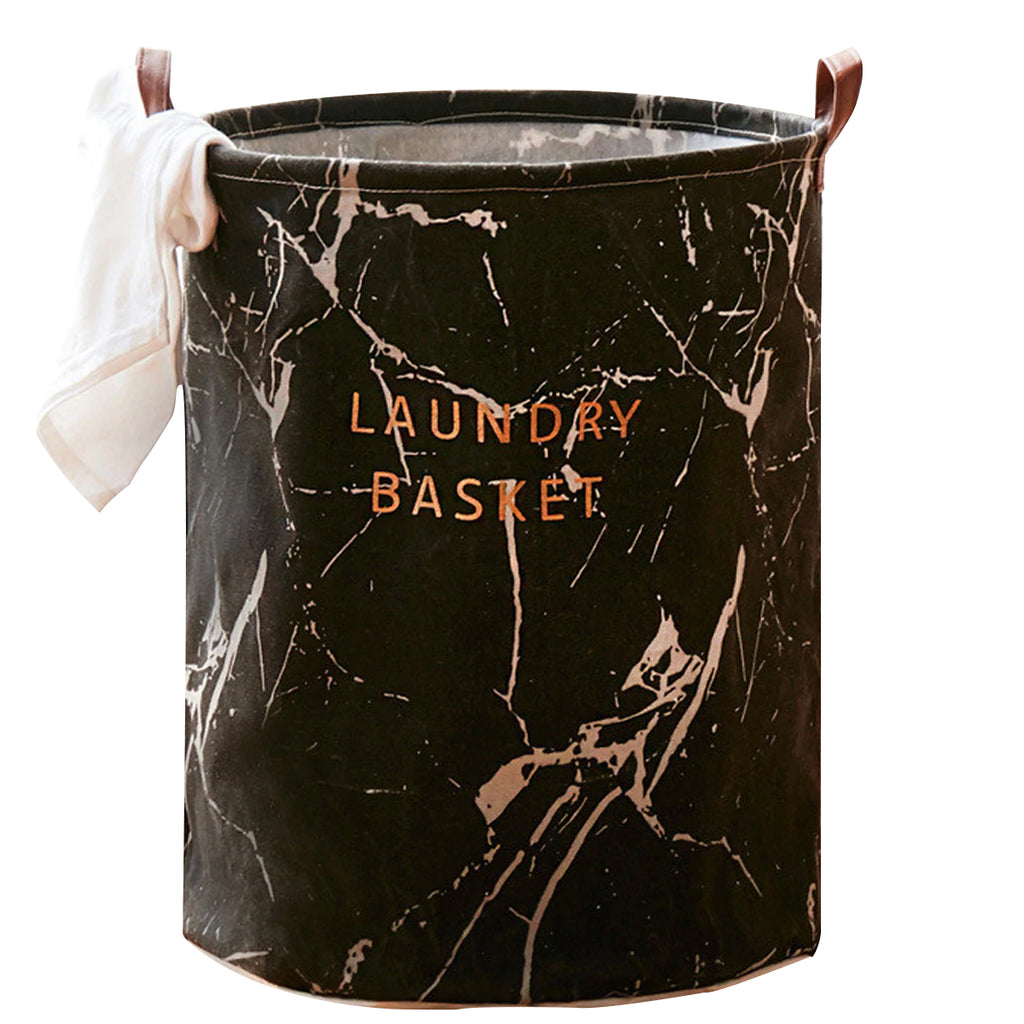 Modern Canvas Black Laundry Basket - Hansel & Gretel Home Decor