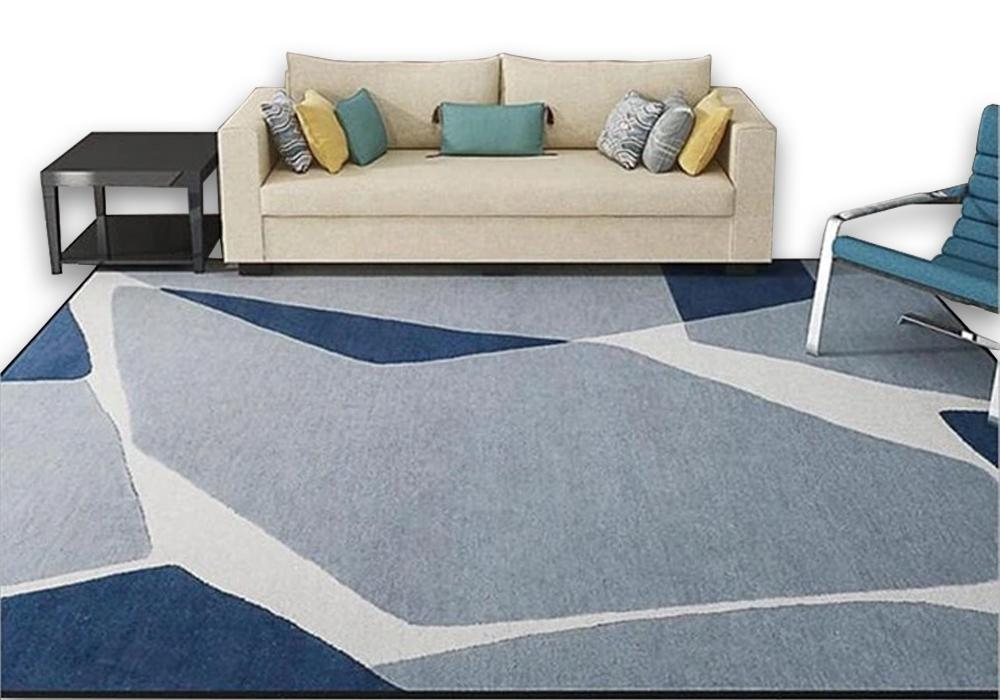 Blue Living Space Carpet - Hansel & Gretel Home Decor
