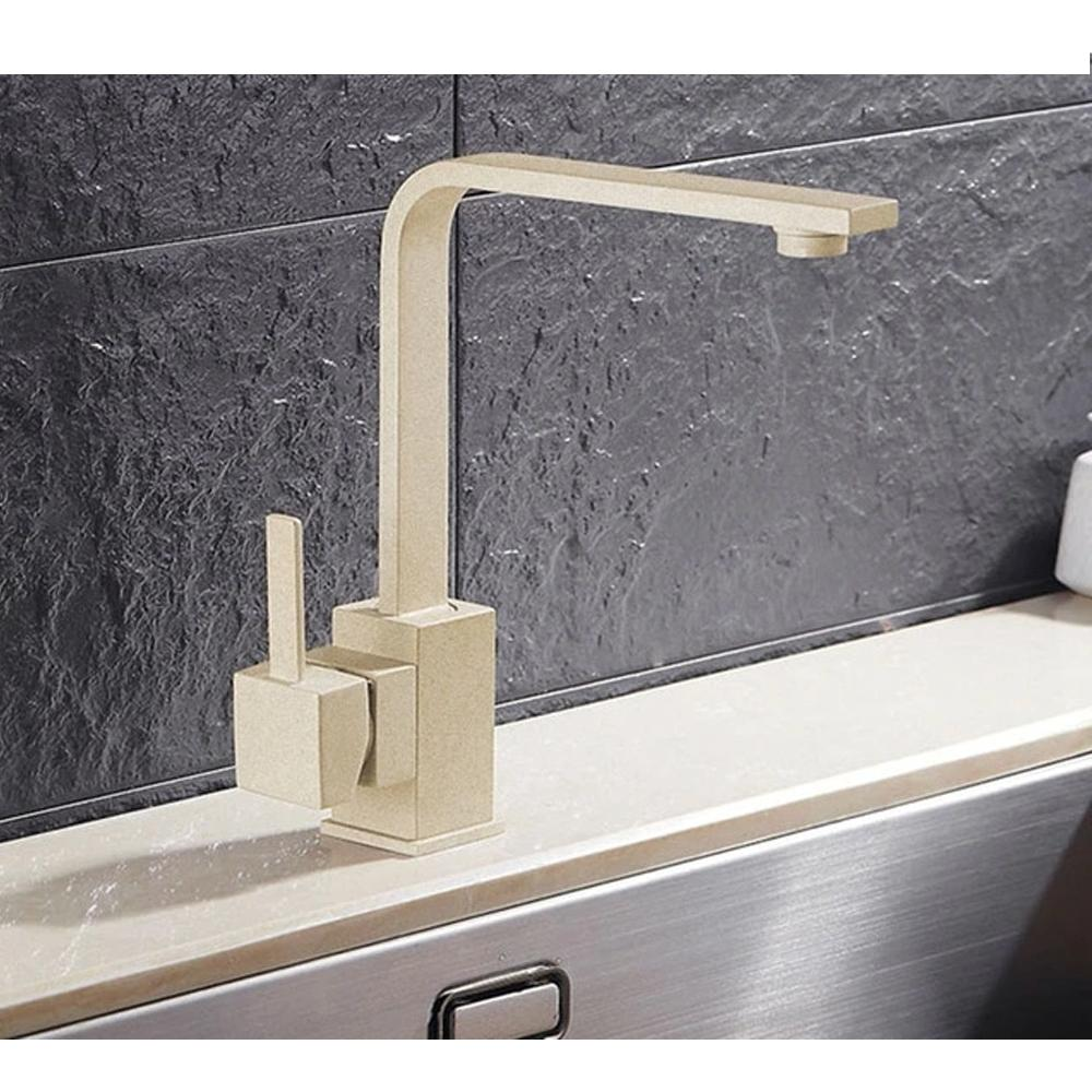 Brass Beige Kitchen Faucet Swivel - Hansel & Gretel Home Decor