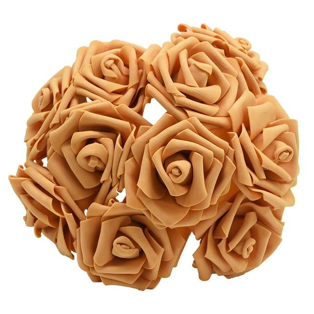 Brown Artificial Flowers Rose Bouquet
