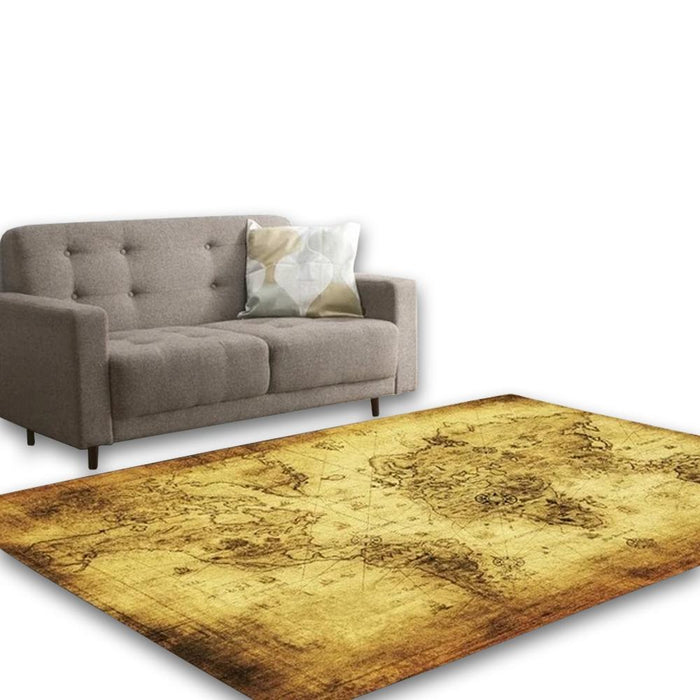 Brown Living Area Carpet