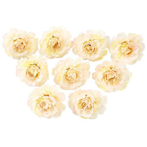 Champagne Artificial Flowers Spring Rose Head - Hansel & Gretel Home Decor