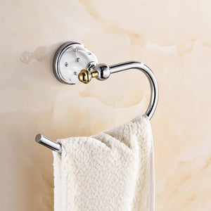 Chrome European Towel Hanger - Hansel & Gretel Home Decor
