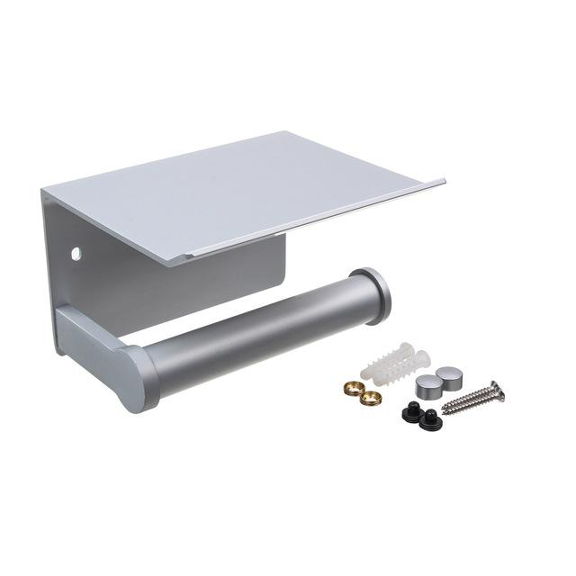 Contemporary Aluminum Alloy Toilet Paper Holder