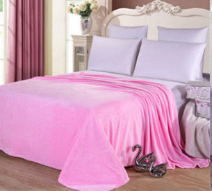 Cotton Polyester Pink Throw - Hansel & Gretel Home Decor