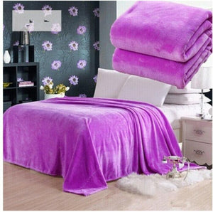 Cotton Polyester Purple Throw - Hansel & Gretel Home Decor