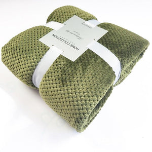 Crocheted Polyester Green Throw - Hansel & Gretel Home Decor