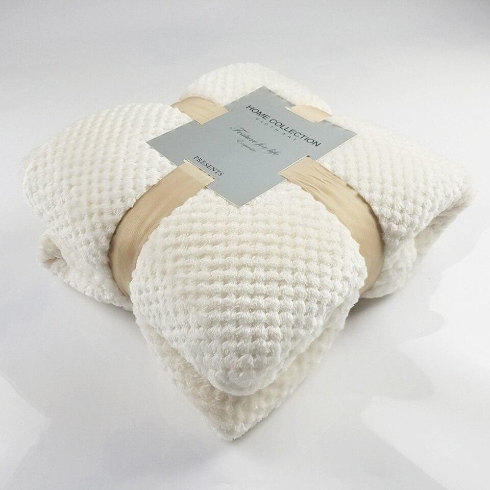 Crocheted Polyester White Throw - Hansel & Gretel Home Decor