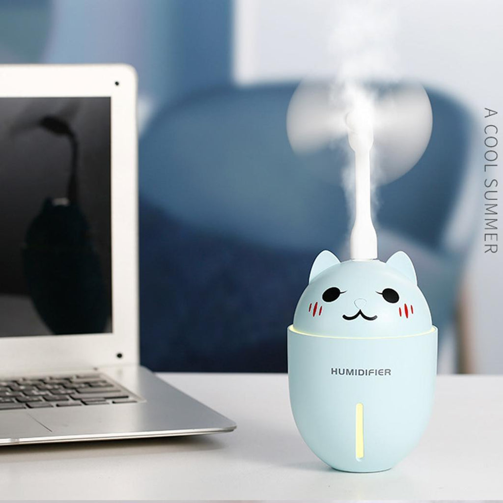 Cute Cat Mini 3 in 1 Humidifier & Electric Scent Distributor - Hansel & Gretel Home Decor