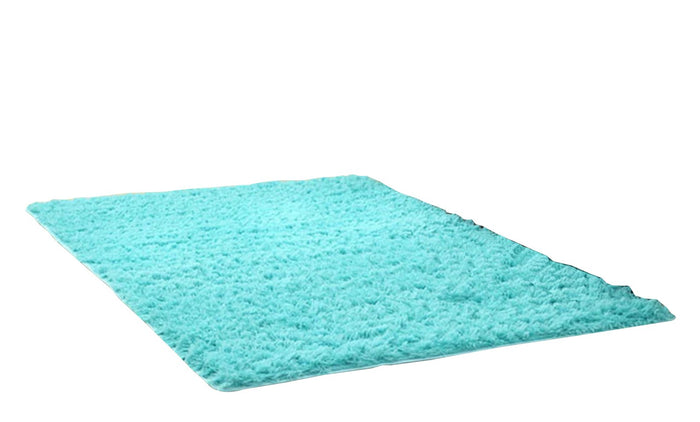 Cyan Shaggy Super Soft Carpet