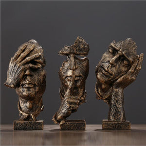 Decorative Ornamental Sculpture Abstract Figurines - Hansel & Gretel Home Decor