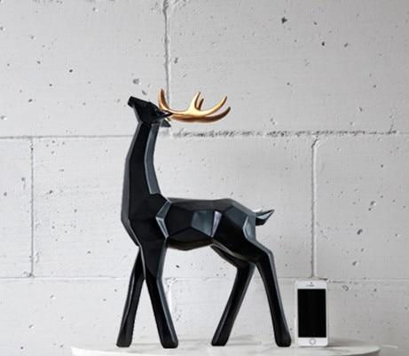 Decorative Ornamental Sculpture Reindeer Figurine - Hansel & Gretel Home Decor