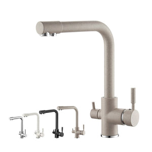 Brass White Kitchen Faucet Rotating and Water Purifying - Hansel & Gretel Home Decor